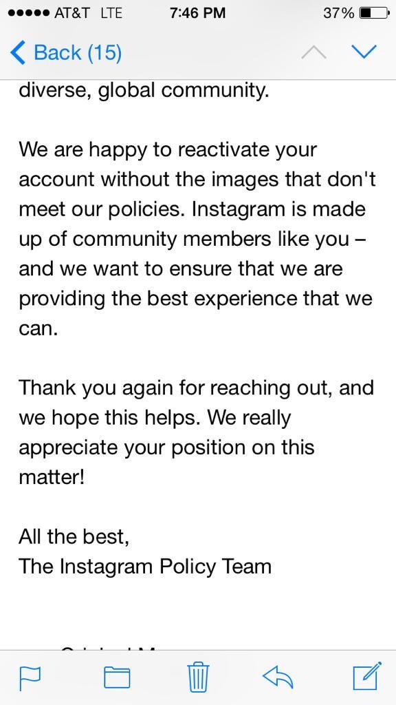 Сходила голой на улицу письмо Инстаграм