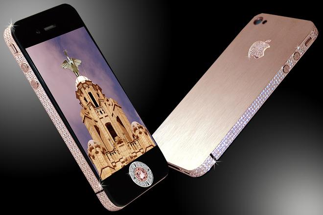 Самые дорогие телефоны в мире Iphone Diamond Rose