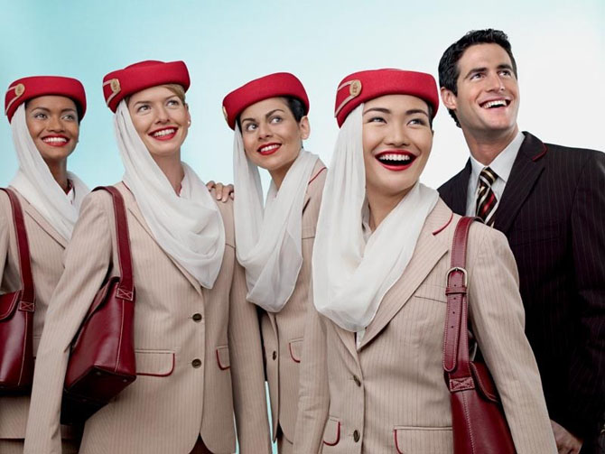 Стюардессы Emirates