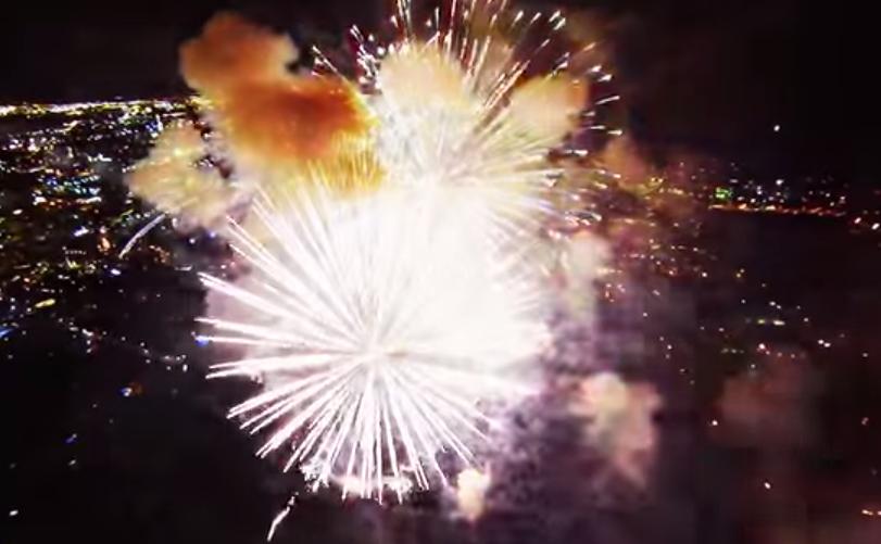 Видео из эпицентра салюта 3