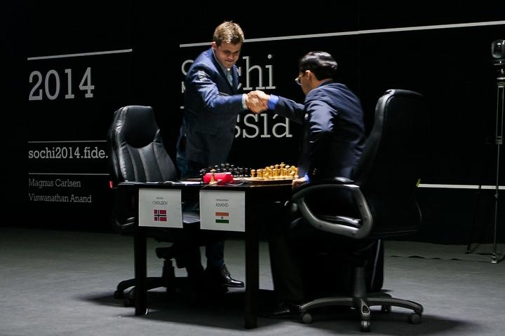 Матч Карлсен Ананд первая партия 6