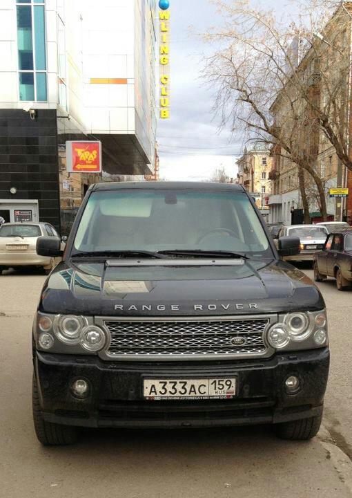 Тройки Игоря Лугового Range Rover
