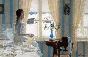 татьяна ларина смотрит в окно